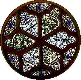Rose window at West end of St. Luke's