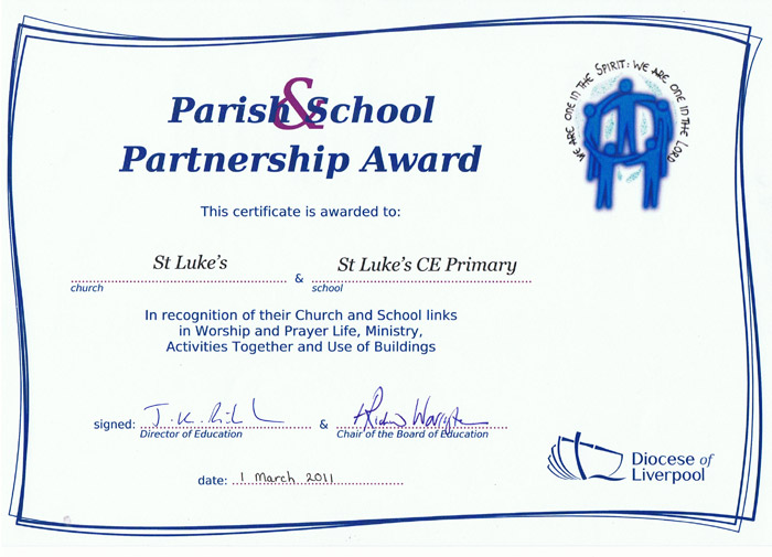 Church-school award certificate